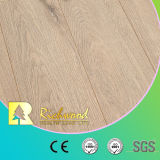 12.3mm E0 HDFのビニールの板のカシによって薄板にされる木製の木の積層のフロアーリング