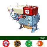 Motor diesel fresco del agua de la rueda S195 del alimentador dos