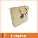 Bolso del regalo del papel del producto del cuidado personal con la impresión ULTRAVIOLETA y el sellado caliente