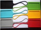 Modifica di nome su ordinazione dei bagagli della gomma di silicone con il marchio di stampa