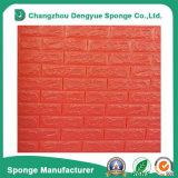 Painéis impermeáveis Non-Toxic da etiqueta do papel de parede da espuma do PE 3D