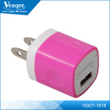 Draagbare Color Mobile Phone Travel USB Charger voor iPhone 6s