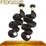 長続きがする柔らかいブラジルの毛の織り方の自然で黒い人間の毛髪