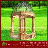 Granit Sulpture de décoration de jardin. Banc de marbre, pot de fleur, découpage animal de pierre de trappe de fer