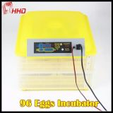 Hhd 96의 계란 (EW-96)를 위한 높이 능률적인 가득 차있는 자동적인 닭 계란 부화기