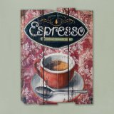 de Houten Tekens die van de Plaque van de Muur van het Thema van de koffie Ontwerpen For2016 schilderen