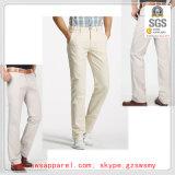 Pantalones delgados del algodón del pantalón del ajuste de la nueva del Mens tela cruzada del estiramiento