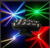 luz principal movente do feixe da aranha do diodo emissor de luz de 8*10W RGBW