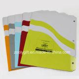 Скоросшиватели бумажного архива карманн близнеца рассекателя индекса A4 для Ringbinder