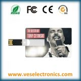 Lecteur flash USB par la carte de crédit promotionnel