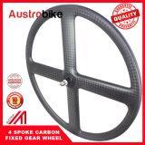 道のバイクのための4つのスポークカーボンバイクの車輪