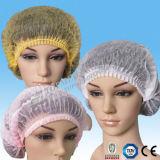使い捨て可能なNonwoven Hairnet、Nonwoven Bouffant CapのNonwoven円形の帽子