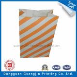 Orange Farben-Wavepoint gedruckter Papierverpacken- der Lebensmittelbeutel