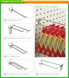 Crochet de Pegboard de fil de double utilisé par système en métal