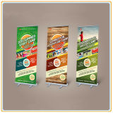 Econômico 85 * 200cm Pop up Banner Stand