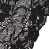 Ajustes florales del cordón del bordado con la cuerda del algodón para la ropa interior