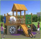 Kaiqi scherza il campo da giuoco esterno della capanna di legno con la trasparenza (KQ60079A)