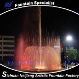 Musik-Tanzen-Brunnen mit bunter Beleuchtung im Quadrat