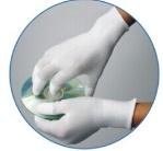 PUのコーティング、白いポリエステル上塗を施してあるPUの手袋が付いている編む手袋