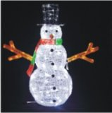 Acrílico 3D Santa Claus Padre Luz de Navidad para Navidad