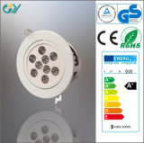 Lampe du plastique 4000k 9W LED vers le bas avec du CE RoHS