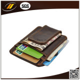 Caisse de carte bon marché d'identification de cuir, support par la carte de crédit en cuir