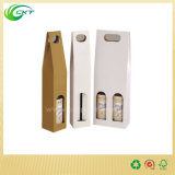 Caja de paquete de botella de vino de cartón de lujo con logotipo personalizado (CKT-PB-28)