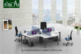 Nuevo escritorio de oficina modular de los muebles de la pierna del vector del hardware con la pintura