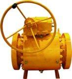 Robinet à tournant sphérique de l'entrée api de côté de difficulté de réducteur de transmission