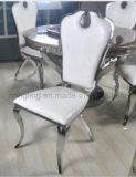 Cadeira de jantar antiga luxuosa do aço inoxidável do projeto