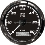 Sq 85mm Tachometer 0-6000rpm с Backlight Double Layer Reinforced Анти--Fogging Glass