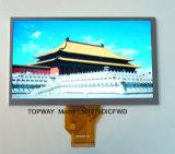 """7 """" индикация WVGA TFT LCD с сопротивляющей панелью касания"""