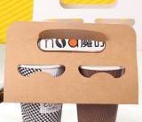 Rectángulos de papel de Pacakging del café del papel/de la cartulina de arte de la manera con los rectángulos de papel del café de la insignia