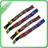 Polyester Custom Fabric Woven Wristband für Ein Zeit Use