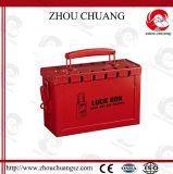 Centre en acier rouge de verrouillage de garantie avec le traitement en plastique