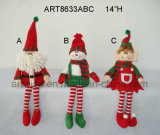 ポンポンの脚のクリスマスの装飾のギフト4asst