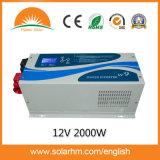 (W9-20212-1) 2000W 12V 순수한 사인 파동 변환장치