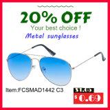 Lunettes de soleil chaudes en métal de vente avec du ce de bâti d'acier inoxydable, FDA