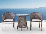 Cadeira do Rattan e mobília ao ar livre da tabela de chá