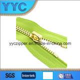 衣服のためのYの歯の金のスライダの金属のジッパー