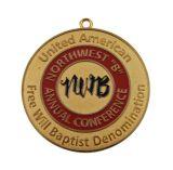 Изготовленный на заказ медаль покрынное золотом, значок металла (GZHY-BADGE-001)