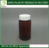 bouteille en plastique ambre d'animal familier du cylindre 150ml