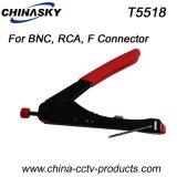 Ferramenta coaxial do CCTV da compressão impermeável (T5518)
