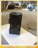 Shanxi Black Granite Cross Design Vaso Atacado