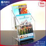 3-rijen Houder van de Brochure van Slatwall de Acryl