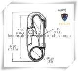 El gancho de leva de acero forjado del broche de presión de la cuerda de la seguridad del cinc plateó