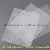 Nonwovens de laminage à chaud d'Airlaid de fibre d'animal familier