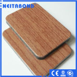 Panneau composé en aluminium incassable d'enduit en bois