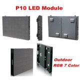 Module extérieur d'Afficheur LED de la poussière d'épreuve de la pluie P10 plein 160 millimètres * module du balayage DEL de 160 millimètres 1/4 pour le mur de vidéo de P10 RVB DEL
