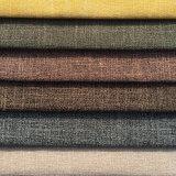 Lino que mira la tela del sofá del poliester (R013)